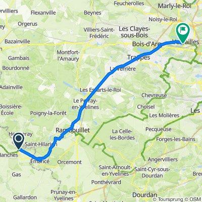 15 Rue du Général Leclerc, Épernon to Route de Saint-Cyr, Versailles
