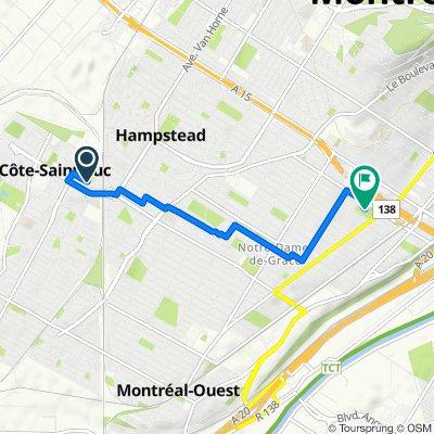 5600–5726 Av Rembrant, Côte-Saint-Luc to 3500 Av Girouard, Montréal