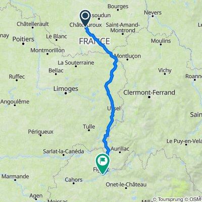 CAPDENAC CHATEAUROUX avec Thierry -  330 km  3200 m
