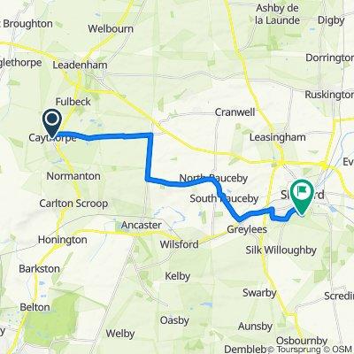 7 Chapel Lane, Grantham to 1 Acacia Close, Sleaford