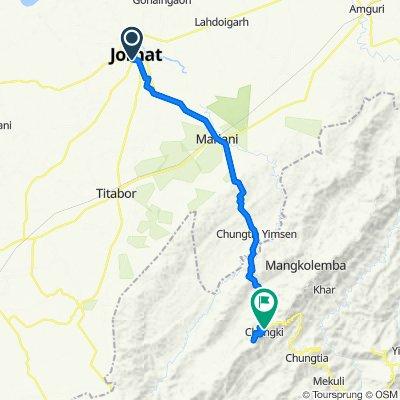 64A, Jorhat to Mokokchung–Mariani Road