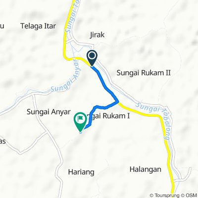 Jalan Amuntai - Kelua, Pugaan to Unnamed Road, Banua Lawas