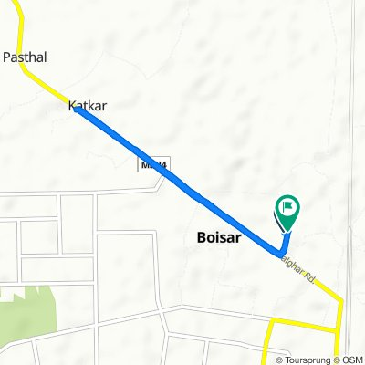 Route from Boisar