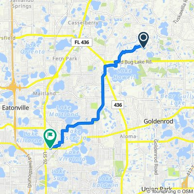 409 Abbeywood Ln, Casselberry to 929 W Fairbanks Ave, Winter Park
