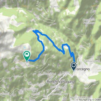 Da Torcegno-Maso Mocchi a Ronchi Valsugana