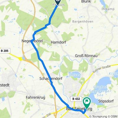 Pettluiser Weg 14, Daldorf nach Lübecker Straße 9, Bad Segeberg