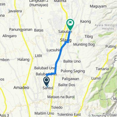 Route to Bayacal Street, Silang