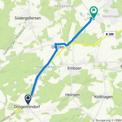 Alte Poststraße 36, Betzendorf nach Pilgerpfad 14, Lüneburg