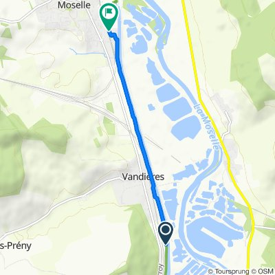Route nach Rue Jean Bouin, Pagny-sur-Moselle