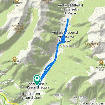 Val Pusteria 9) Giretto sciallo a Anterselva