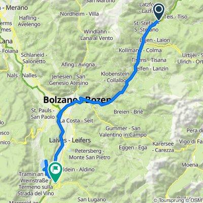 Val Pusteria 12) Chiusa- L. Caldaro- Ora