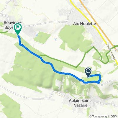De Chemin de Ceinture, Ablain-Saint-Nazaire à 28 Chemin du Mont Breuvart, Bouvigny-Boyeffles