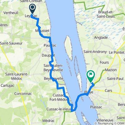 Itinéraire vers Route des Marais, Blaye