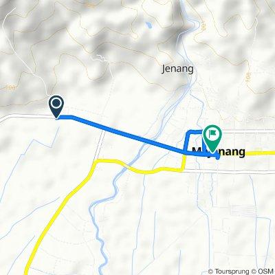 Jalan KH. Sufyan Tsauri 64, Kecamatan Majenang to Jalan Diponegoro 114, Kecamatan Majenang