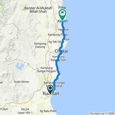 Route to Jalan Batu Putih, Kerteh
