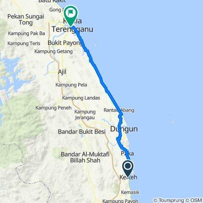 Jalan Batu Putih, Kerteh to 231A, Jalan Bandar Baru, Kuala Terengganu