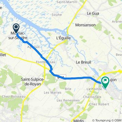 De 14 Rue des Basses Amarres, Mornac-sur-Seudre à 2 Rue Georges Clemenceau, Saujon
