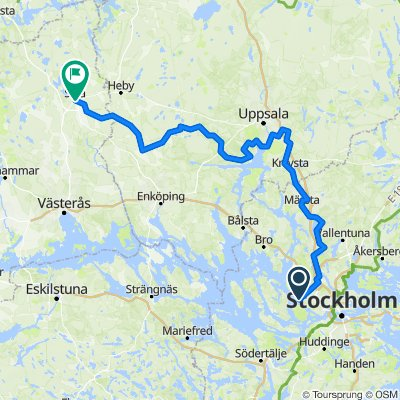 Sverigeleden till Sala (tåg hem / forts till torpet?)