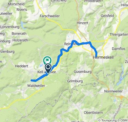 Tour Fahrradweg Kell - Hermeskeil 😎