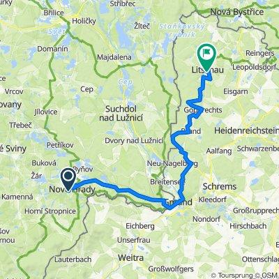 EV13 1. Tag: Nové Hrady - Gmünd - Litschau
