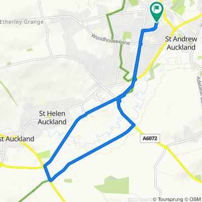2 Westlea Avenue, Bishop Auckland to 2 Eastlea Avenue, Bishop Auckland