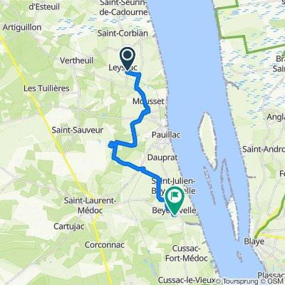 De 3 Route de Poumeys, Saint-Estèphe à 20 Chemin du Bourdieu, Saint-Julien-Beychevelle
