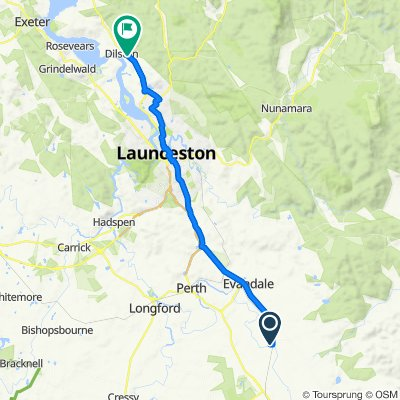 Route to East Tamar Highway, Dilston