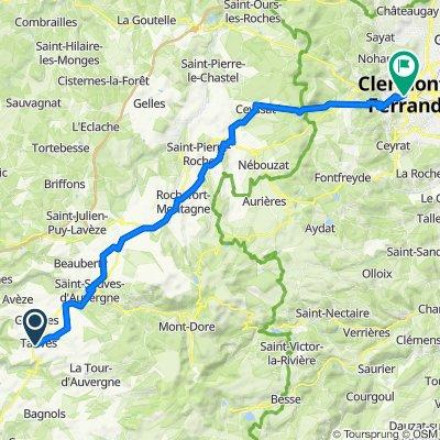 De Le Puy, Tauves à 37bis Place de Jaude, Clermont-Ferrand