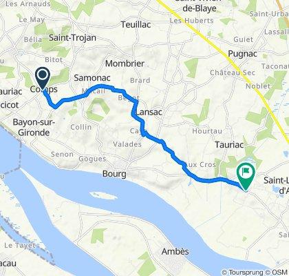 De Le Bourg, Comps à 71 Avenue des Côtes de Bourg, Prignac-et-Marcamps