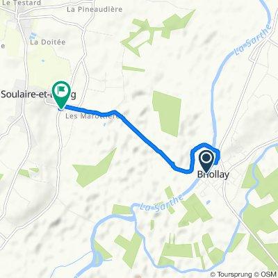 De 1 Rue du Centre, Briollay à 3 Route de Noyant, Soulaire-et-Bourg