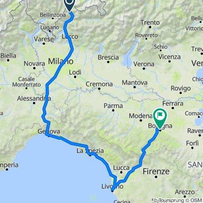 a Bologna per La Spezia