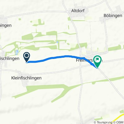 Route nach K38, Freimersheim (Pfalz)
