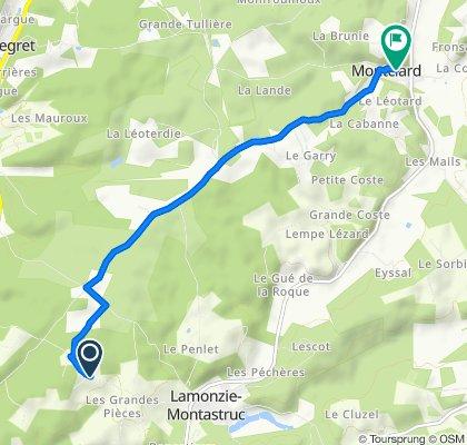 127C La Crabouille, Lamonzie-Montastruc to Montclard, Saint-Georges-de-Montclard