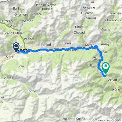Tappa B02 - Da Aosta a Verres