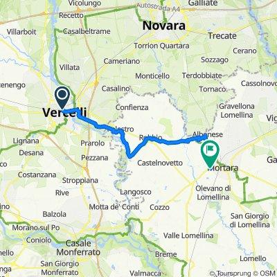 Tappa B05 - Da Vercelli a Mortara