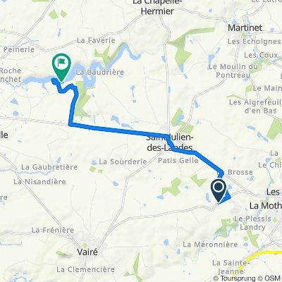 Itinéraire à partir de 16 La Barre, Saint-Julien-des-Landes