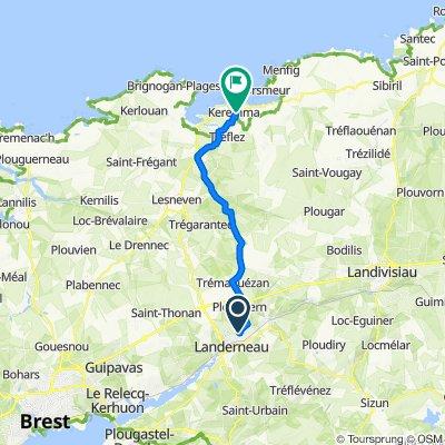 De Allée des Roches Blanches, Plouédern à Route de Pont al Louch, Tréflez