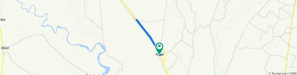 Restful route in Milak