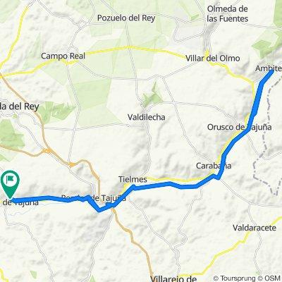 V. V. Morata de Tajuña - Perales de Tajuña - Tielmes - Carabaña - Orusco - Ambite