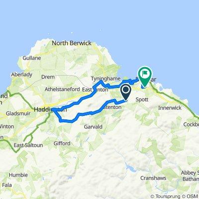 Route to 10 John Muir Gardens, Dunbar