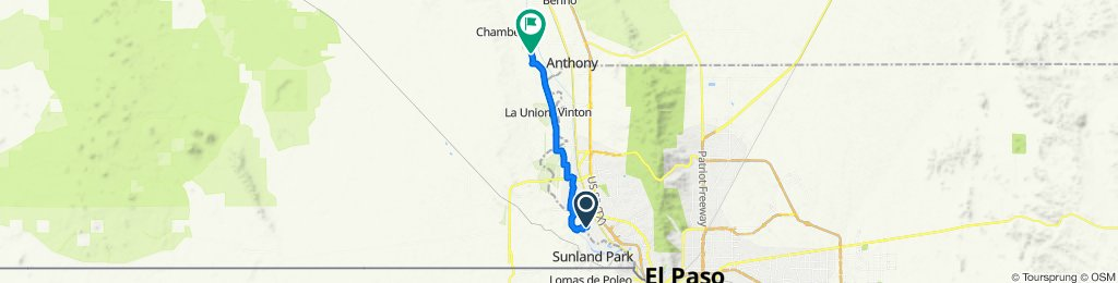Route to West Ohara Road 2625, Anthony