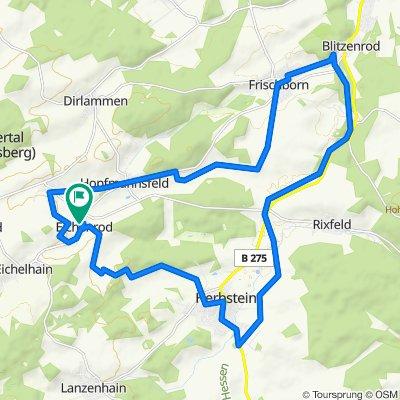 Route von Sonnenweg 8, Lautertal