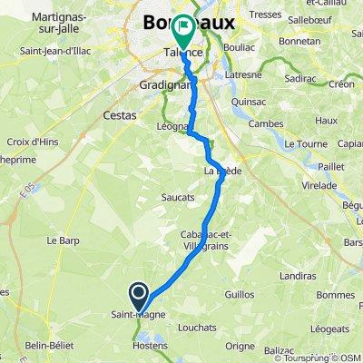 De Impasse du Château d'eau 3, Saint-Magne à Rue Lamartine 82, Talence