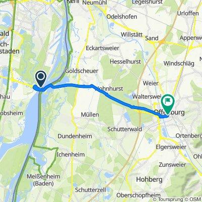 De Route du Kuhnensand, Strasbourg à Hauptstraße 90, Offenbourg