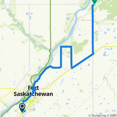 Route from 140 Town Crest Rd, Fort Saskatchewan