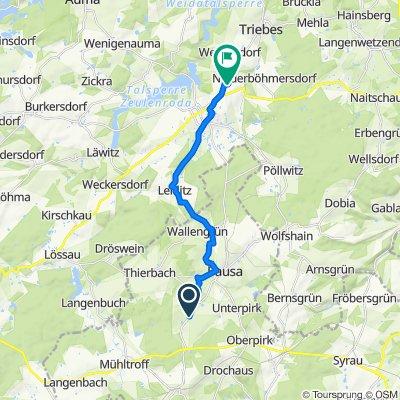 Ortsstraße 2, Pausa-Mühltroff nach Industriestraße 1, Zeulenroda-Triebes