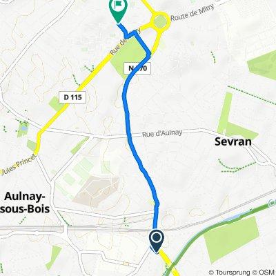 De 2–28 Allée du Maréchal Gérard, Sevran à 5 Rue des Mimosas, Aulnay-sous-Bois