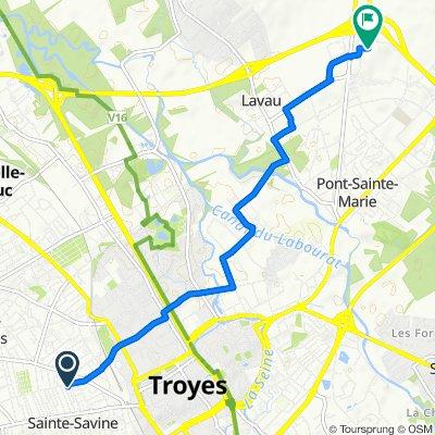 De Rue de l'Union 13, Sainte-Savine à Dames Blanches, Lavau