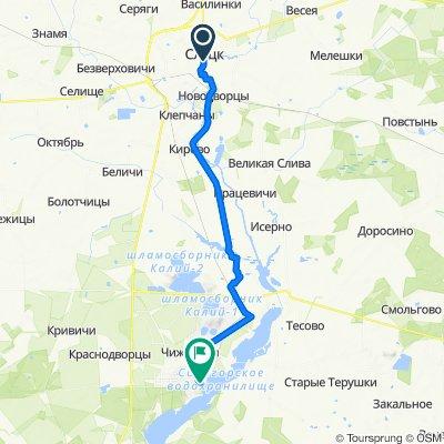 От улица 8 Марта 4, Слуцк до Naberezhnaya 7, Салігорск