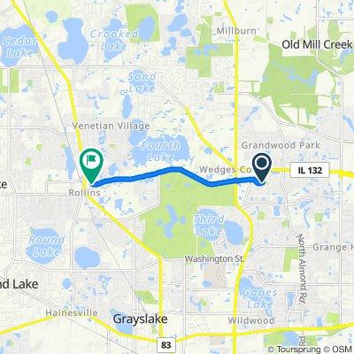 1547 Sauganash Ct, Gurnee to 900 E Rollins Rd, Round Lake Beach